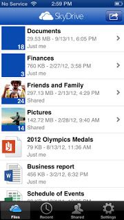 SkyDrive for iOS updated, now supports iPhone 5 and iPad mini.