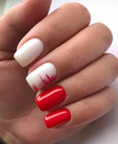 The most beautiful nail design (page Causes break nails? BREAKING NAILS Although breaking nails is necessary to protect the nails against the . Funky Nails, Red Nails, Cute Nails, Pretty Nails, Pastel Nails, Bling Nails, Manicure Nail Designs, Manicure And Pedicure, Nail Art Designs