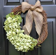 Spring wreath-Burlap wreath-Mothers Day gift-Home decor. $55.00, via Etsy.