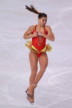 Lena Marrocco of France  Short Program 2013 Trophee Eric Bompard, Red Figure Skating / Ice Skating dress inspiration for Sk8 Gr8 Designs.