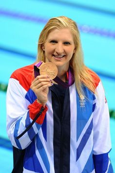 REBECCA ADLINGTON won Team GB's second medal of London 2012 as she sealed a superb bronze in the freestyle final. Question Of Sport, Team Gb, Latest Sports News, Sports Stars, Female Athletes, Olympic Games, My Girl, Olympics, Windbreaker