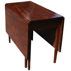 Mahogany Drop Leaf Table | From a unique collection of antique and modern drop-leaf and pembroke tables at http://www.1stdibs.com/furniture/tables/drop-leaf-tables-pembroke-tables/