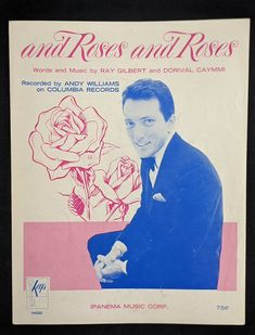 And Roses And Roses Vintage Sheet Music Recorded by Andy | Etsy Vintage Sheet Music, Vintage Sheets, Vintage Frames, Vintage Books, Vintage Items, Frank Sinatra Music, Music Clock, Coca Cola Ad, Senior Living Communities