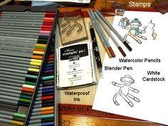 Watercolour pencils made easy