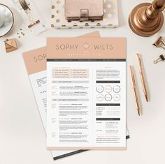 Resume CV Design Cover Letter Template for Word by OddBitsStudio, $18.80