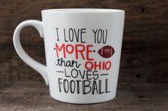 Ohio State Buckeyes Coffee Mug Hand by MorningSunshineShop