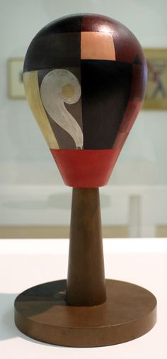 Sophie Taeuber-Arp, Tête Dada (Dada Head), 1920, wood and paint, 29.43 cm high (Centre Pompidou, Paris)