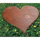 Cast Iron Heart Stepping Stone - iron 6th year anniversary