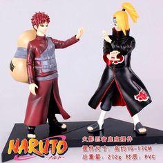2pcs [Naruto] Deidara Gaara Pvc figure Toy Japanese Anime 16cm #Figurines