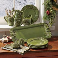 Paula Deen Southern Pine Serveware -- Through the Country Door -- 9-7-16