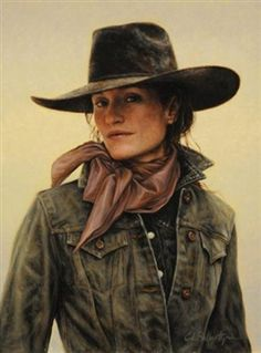Cowgirl or Boss-Lady of the Ranch. Cowboy Chic, Cowboy Gear, Cowboy And Cowgirl, Cowgirl Style, Cowboy Hats, Cowgirls, Western Art, Western Crafts, Le Far West