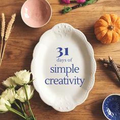 31 days of simple creativity Archives - abi partridge 31 Days, Partridge, Pie Dish, Creativity, Dishes, Simple, Grey Partridge, Tablewares, Dish