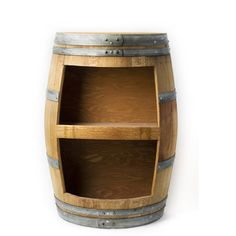 Grapevine: Half-Barrel Wine Display Case from Wine Branch
