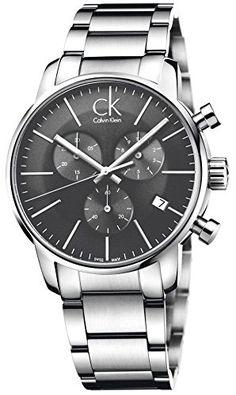 1b2a89cb8ce Calvin Klein Herren-Armbanduhr Chronograph Quarz Edelstahl K2G27143 Latest  Watches