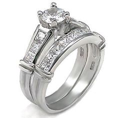 Binding Love: 3.3ct Ice on Fire Russian CZ Wedding Ring Set
