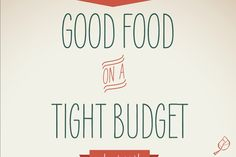 Great PDF book with tips, ideas and recipes for healthy eating on a budget! http://static.ewg.org/reports/2012/goodfood/pdf/goodfoodonatightbudget.pdf