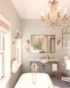 Love the chandelier