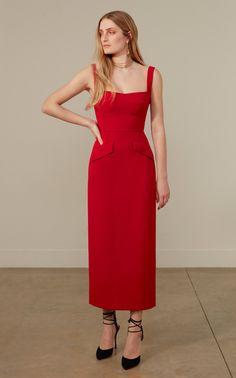 Rachel-B Crepe Midi Dress by Saloni   Moda Operandi