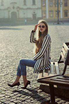 Zara Coat, Motivi Heels, Primark Jeans