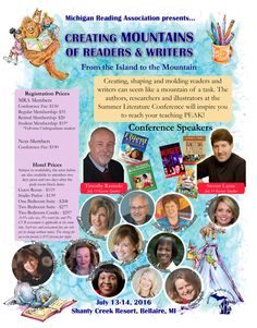 Empowering all Michigan Students and Educators through Literacy Illustrators, Conference, Literacy, Michigan, Literature, Writer, Author, Student, Education