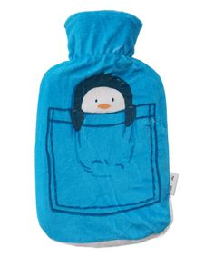 Fill up this rubber hot water bottle for instant convenient coziness. The ultrasoft fleece cover makes it comfortable to cuddle, and adorable graphics add sweet charm. Includes hot water bottle and W x HHolds 1 LNatural rubber / polyesterImported Penguin Love, Cuddling, Penguins, Water Bottle, Pocket, Hot, Cover, Blue, Physical Intimacy