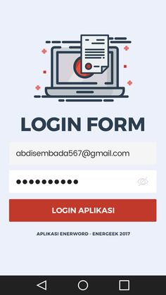 Login Screen - Android E - Word