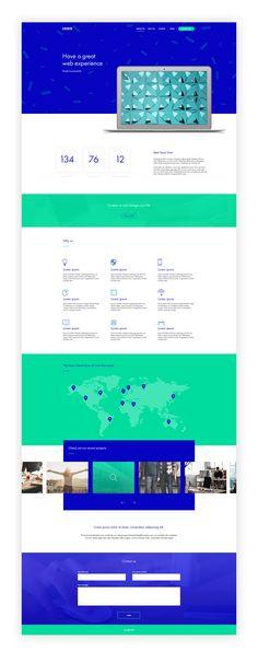 """Popatrz na mój projekt w @Behance: """"Website template"""" https://www.behance.net/gallery/57716059/Website-template"""