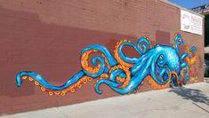 sea life - sea life photography - sea life underwater - sea life artwork - sea life watercolor sea l Murals Street Art, Graffiti Art, Mural Art, Octopus Drawing, Octopus Wall Art, Octopus Tattoo Design, Octopus Painting, Octopus Illustration, Sea Life Art