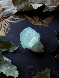 Green Apophyllite Crystal Apophyllite from India by bionicunicorn