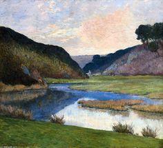 Bretagne, huile sur toile de Maxime Maufra (1861-1918, France)