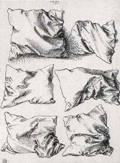 Albrecht Dürer, six pillows, pen an ink on paper, n.d.                                                                                                                                                                                 More