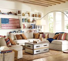 painted American flag!!!!!  I have to make red, white and blue pillows for the couch and chaise by the piano!