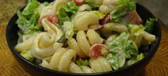 BLT Pasta Salad. I need to try this with Wildtree's new Coleslaw dressing!