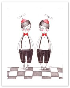 Twins print by NuriaDiazShop on Etsy, €12.00