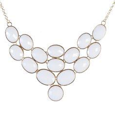 Jane Stone Pure White Bubble Necklace, Statement Jewelry, Chunky Necklace, Bib Necklace(Fn0578) (Pure White) EnyaJewelry http://www.amazon.com/dp/B00DZD18DM/ref=cm_sw_r_pi_dp_DJE9ub17XBJ6J