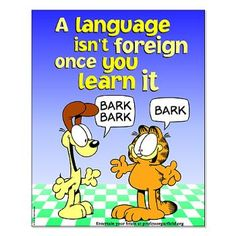 Foreign Language Garfield Small Poster