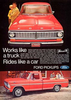 1969 Ford Truck | 1969 Ad Ford Pickup Truck Haulling Loading Driving Travel Work Air ...