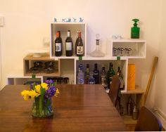 Amy and Christian's Newlywed Home- I love that Idea for a bar