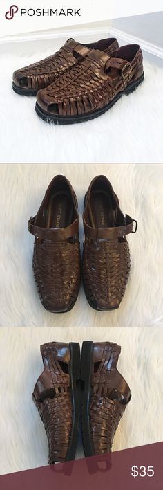 men's soft stags weaved leather sandals Brand new. Never worn.  Designed for a lightweight, supple feel. Genuine leather weaved sandal with clasp.   Open to offers. Bundle and save on shipping! Deer Stags Shoes Sandals & Flip-Flops