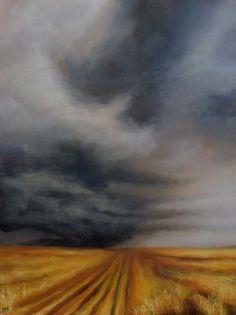 Original Painting by CES Prairie Field Harvest by PaintingsbyCES, $265.00