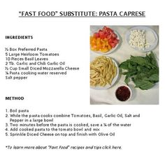 "Great for a BBQ side dish or when you are in the mood for a quick ""skinny"" pasta salad."