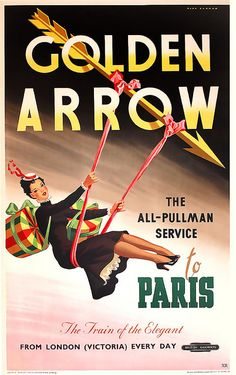 British Railways Golden Arrow Travel Poster.