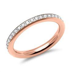 Rosévergoldeter Edelstahlring für Damen R9235czSL #ring #jewelry #rose #gold #silver