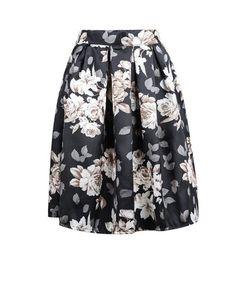 Black Floral Midi Skirt   ModestlyDressed Boutique/ Modest Fashion