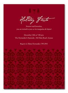 'Christmas Fiesta' by Invitation Consultants