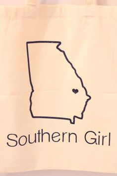 Georgia Southern Cotton Tote Southern Girl by SouthernMamaDesign, $13.50