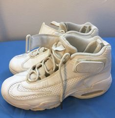 detailed look 54845 95b3f men shoes NIKE AIR GRIFFEY MAX 1 white gold trim leather INDUCTED 2016 size  9.5