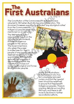 Australian History: The First Australians (member resource) Aboriginal Education, Indigenous Education, Aboriginal History, Aboriginal Culture, Aboriginal People, History Education, Teaching History, Australia Day, Australia Facts