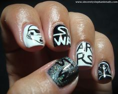 Sincerely Stephanie: 31 day nail art challenge black and white