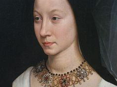 Hans Memling, 1470 - A closer view of 14-year-old Maria (Baroncelli) Portinari